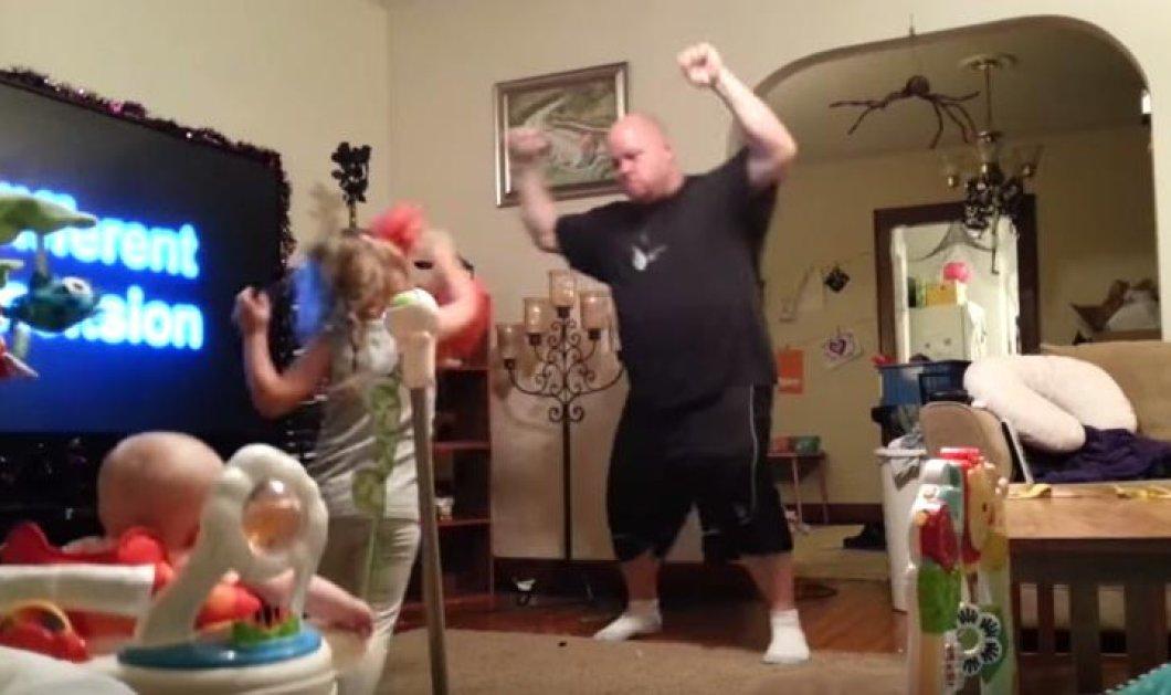 H μαμά έβαλε κάμερα για να δει τι κάνει ο τρελάρας μπαμπάς όταν μένει με τα παιδιά στο σπίτι - Κυρίως Φωτογραφία - Gallery - Video