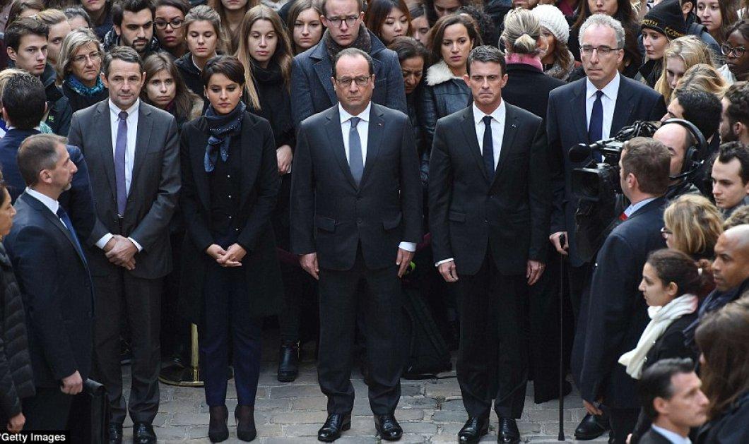 Συγκινητικές φωτογραφίες & βίντεο απο την 1 λεπτού σιγή στο Παρίσι & σε όλο τον πλανήτη   - Κυρίως Φωτογραφία - Gallery - Video