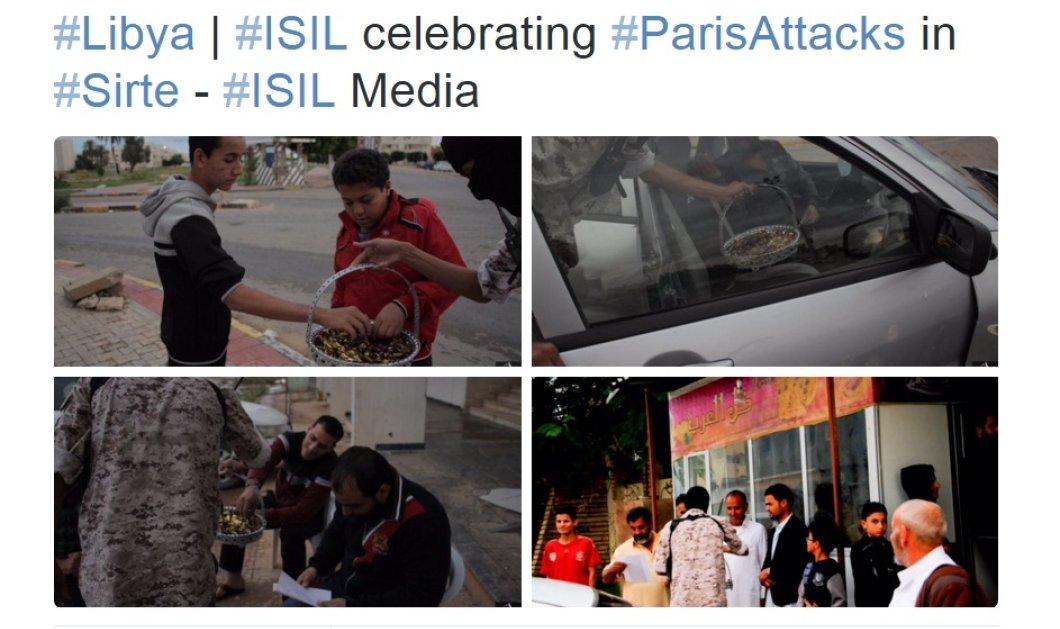 Εικόνες πρόκλησης! Οι τζιχαντιστές μοιράζουν γλυκά γιορτάζοντας το μακελειό στο Παρίσι  - Κυρίως Φωτογραφία - Gallery - Video