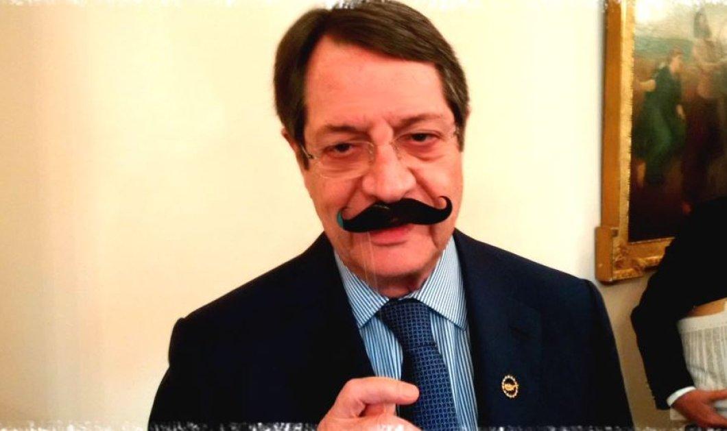 Ένα τεράστιο μουστάκι έβαλε ο Νίκος Αναστασιάδης - Τον ακολούθησαν και άλλοι διάσημοι για το Movember  - Κυρίως Φωτογραφία - Gallery - Video