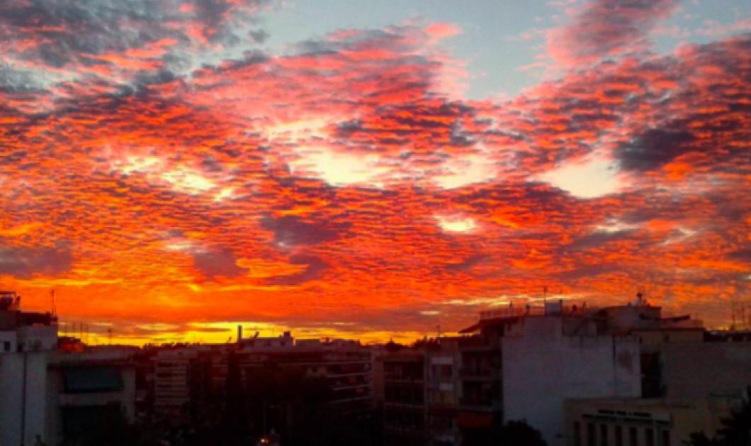 Καληνύχτα σας λέμε με τον υπέροχο κόκκινο Αττικό ουρανό και πως τον σχολίασαν οι τουιτεράδες! - Κυρίως Φωτογραφία - Gallery - Video