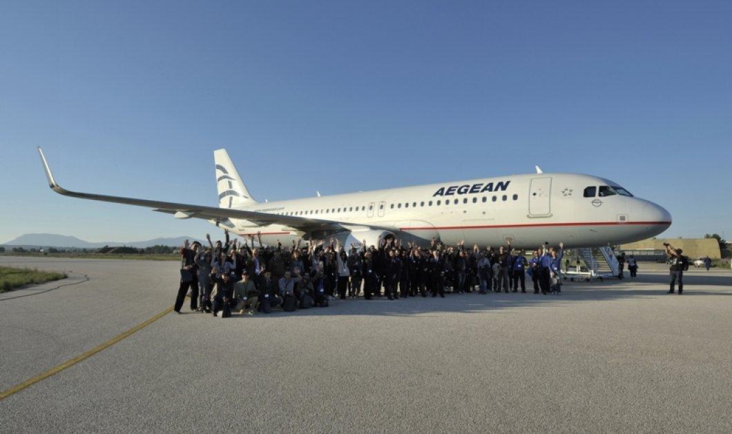 100 τυχεροί επιβάτες της Aegean έζησαν μοναδική στα παγκόσμια χρονικά εμπειρία!Σχηματισμός στον αέρα επιβατικού αεροσκάφους με τρία μαχητικά!  - Κυρίως Φωτογραφία - Gallery - Video