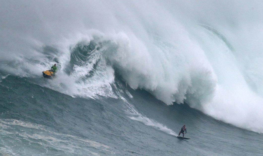 20 συναρπαστικές εικόνες: Τα μεγαλύτερα κύματα του κόσμου στην Πορτογαλία δαμάζουν 3 δεινοί surfer - Κυρίως Φωτογραφία - Gallery - Video
