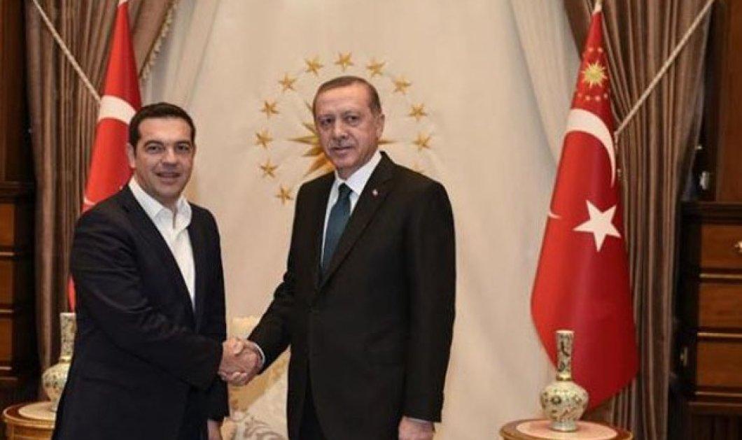 Με τον Τούρκο Πρόεδρο Ρετζέπ Ταγίπ Ερντογάν συναντήθηκε ο Έλληνας Πρωθυπουργός Αλέξης Τσίπρας - Κυρίως Φωτογραφία - Gallery - Video