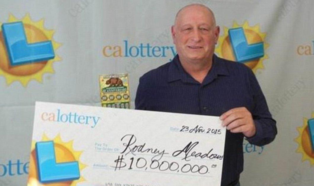 10 εκατομμύρια δολάρια! Κέρδισε δύο φορές στο λαχείο μέσα σε λίγα λεπτά - Κυρίως Φωτογραφία - Gallery - Video
