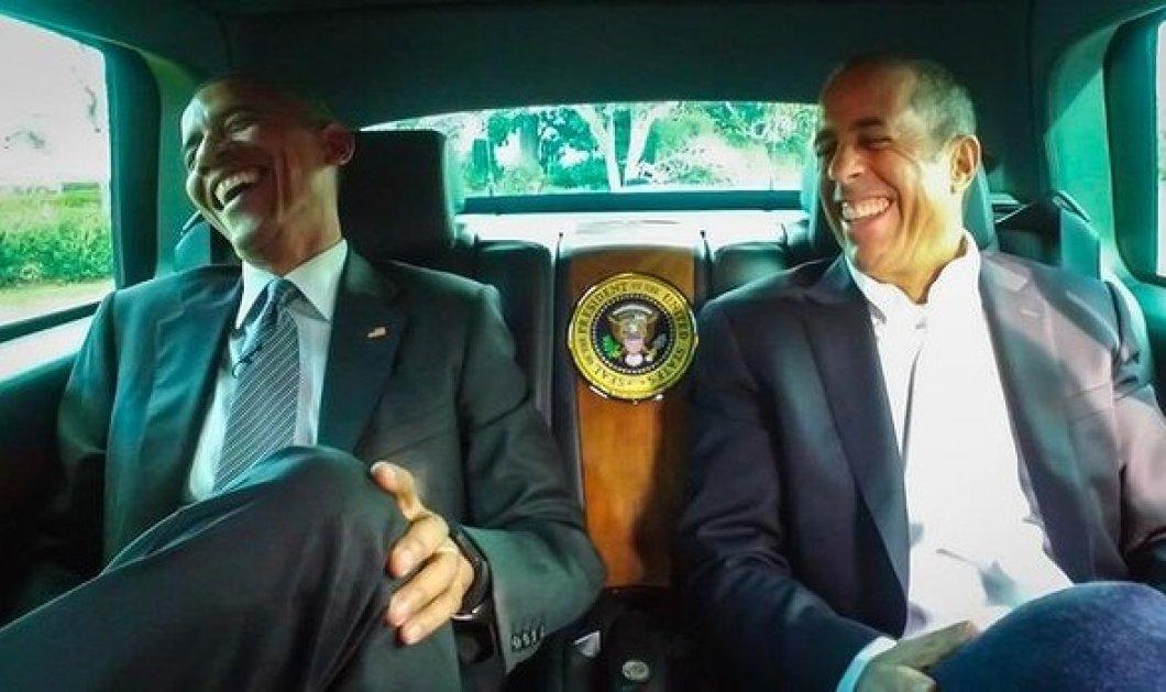 «Κωμικοί στα αυτοκίνητα» πίνουν καφέ με τον Ομπάμα - Ο Πλανητάρχης guest star σε tv show του internet  - Κυρίως Φωτογραφία - Gallery - Video
