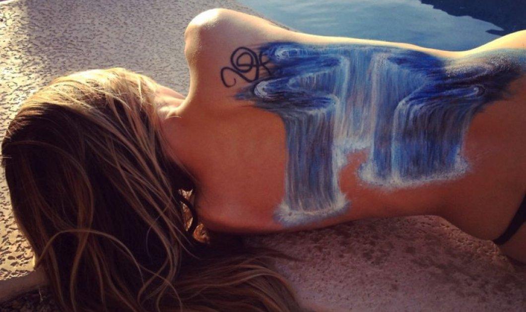 Ερωτευμένη με το κορίτσι της ή με την τέχνη της; Ζωγράφισε 3D αριστουργήματα στην πλάτη της - Φωτό - Κυρίως Φωτογραφία - Gallery - Video