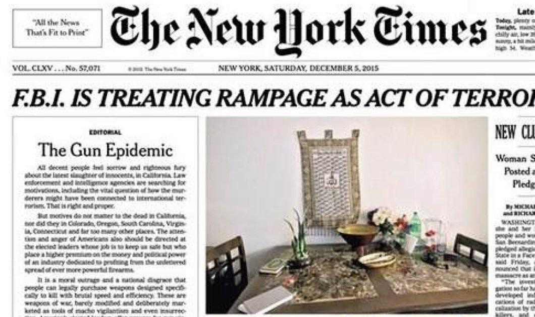 Για πρώτη φορά από το 1920 οι New York Times κυκλοφόρησαν με κύριο άρθρο στην πρώτη τους σελίδα - Ποιος ο λόγος της «ιστορικής» απόφασης; - Κυρίως Φωτογραφία - Gallery - Video