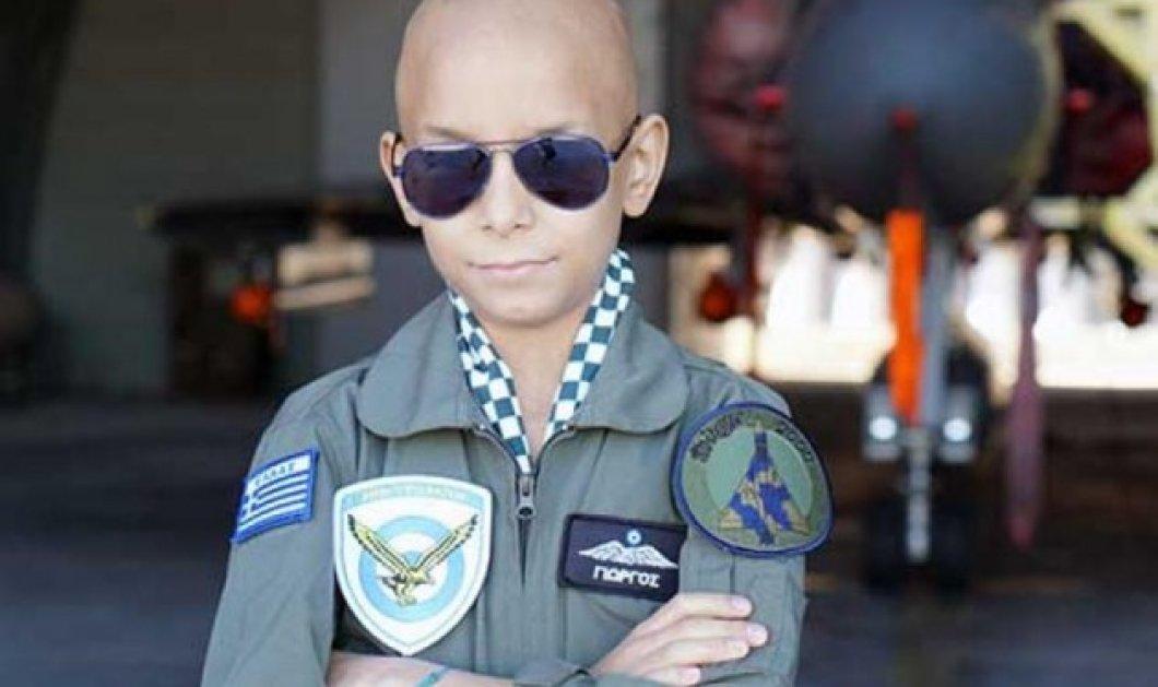 Story of the day: Ο 10χρονος πιλότος της Πολεμικής Αεροπορίας και της ζωής, πέρασε μια μέρα στο αγαπημένο του αεροπλάνο - Κυρίως Φωτογραφία - Gallery - Video