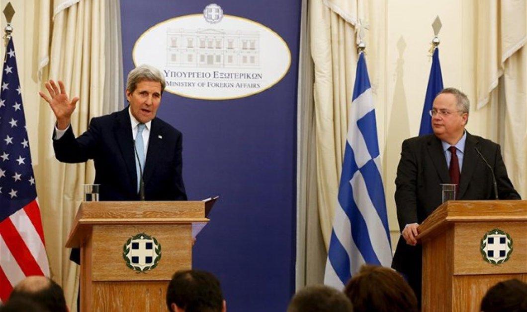Κέρι: Μπορείτε να βασίζεστε στην υποστήριξη των ΗΠΑ - Ν. Κοτζιάς: Σημαντικός παίκτης στην περιοχή η Ελλάδα - Κυρίως Φωτογραφία - Gallery - Video