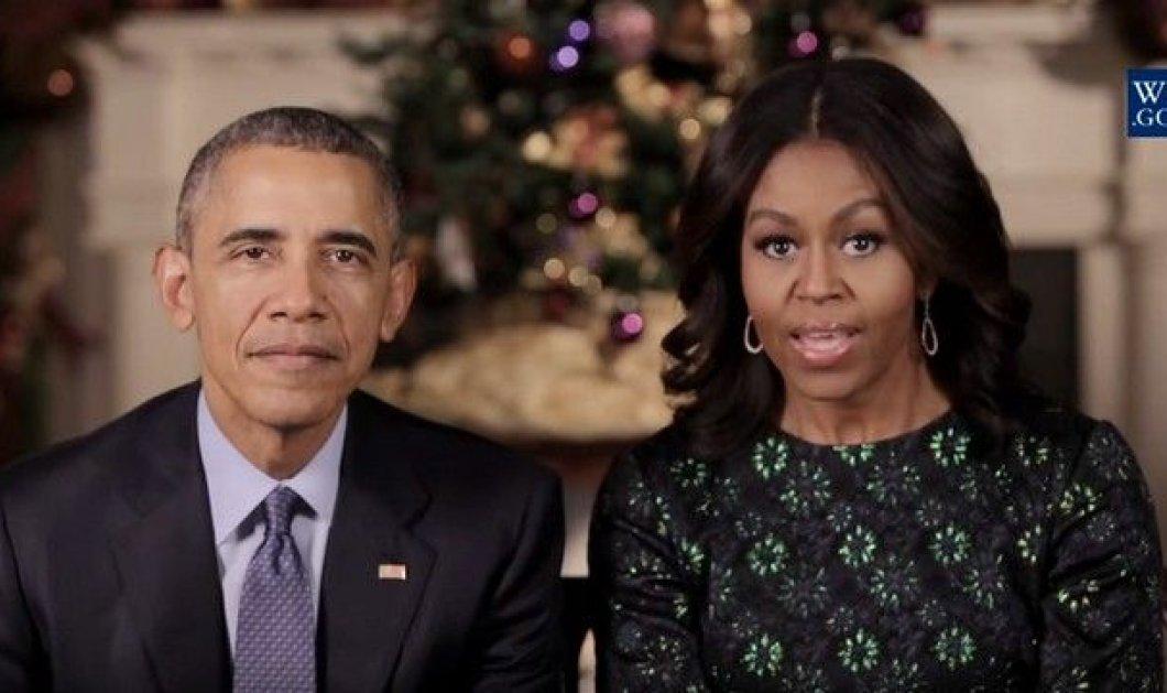 Βίντεο: Το χριστουγεννιάτικο μήνυμα του ζεύγους Ομπάμα - Λάμψη, ευχές και… σκυλιά - Κυρίως Φωτογραφία - Gallery - Video