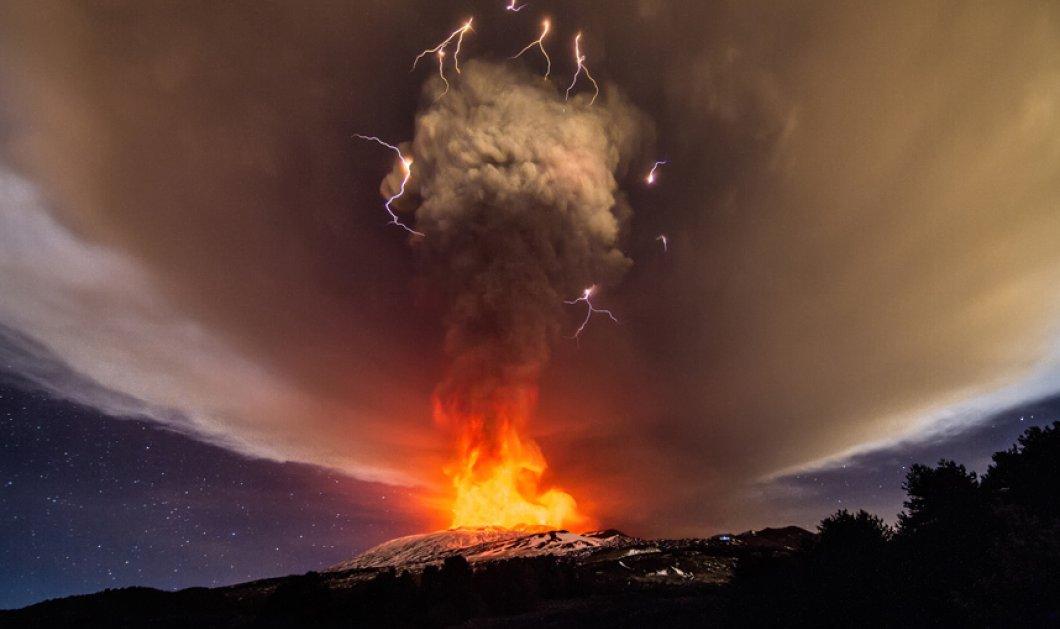 """Η Αίτνα ξύπνησε ξανά! Το υψηλότερο  ηφαίστειο της Ευρώπης γέμισε σκόνη τον ουρανό με τη """"βρώμικη"""" ανάσα του - Κυρίως Φωτογραφία - Gallery - Video"""