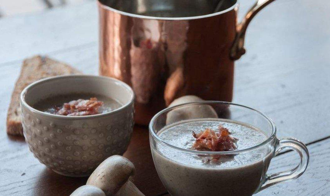Σούπα βελουτέ με μανιτάρια φτιάξτε σήμερα ή στο γιορτινό τραπέζι με συνταγή του Άκη Πετρετζίκη - Κυρίως Φωτογραφία - Gallery - Video