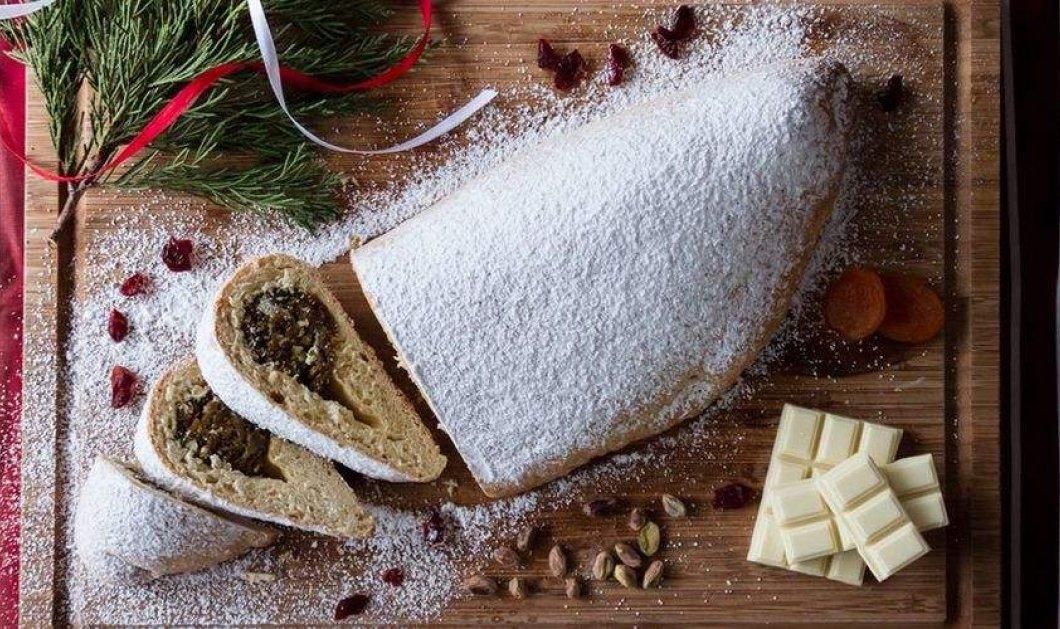 Άκης Πετρετζίκης στο top Χριστουγεννιάτικο γλυκό: Stollen με βερύκοκα, cranberries & άχνη  - Κυρίως Φωτογραφία - Gallery - Video