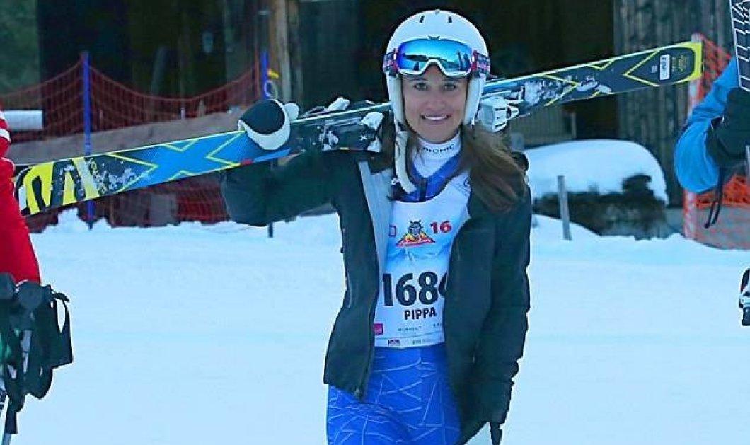 Τα διάσημα οπίσθια της Πίπα Μίντλεντον με φόρμα του σκι! Ακόμη πιο σέξι αλλά στο σικ χρώμα της λεβάντας (φωτο) - Κυρίως Φωτογραφία - Gallery - Video