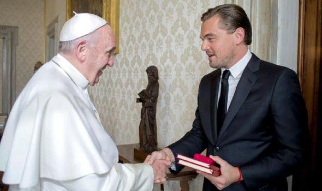 O ''ηγέτης'' του Χόλιγουντ Leonardo Di Caprio τετ α τετ με τον Πάπα Φραγκίσκο - Τι είπε ο θεοσεβούμενος ηθοποιός;  - Κυρίως Φωτογραφία - Gallery - Video