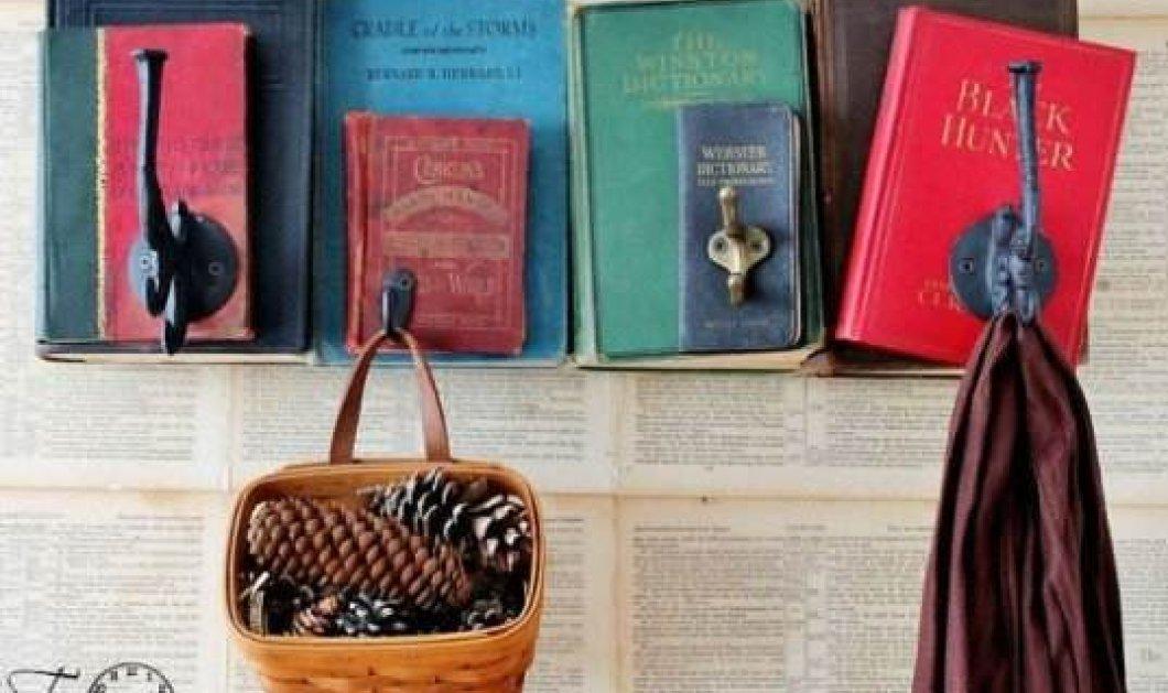 Θα εκπλαγείτε! Φανταστικές διακοσμητικές ιδέες με τα βιβλία σας - reuse και θα γίνουν υπέροχα κομμάτια του χώρου σας - Κυρίως Φωτογραφία - Gallery - Video