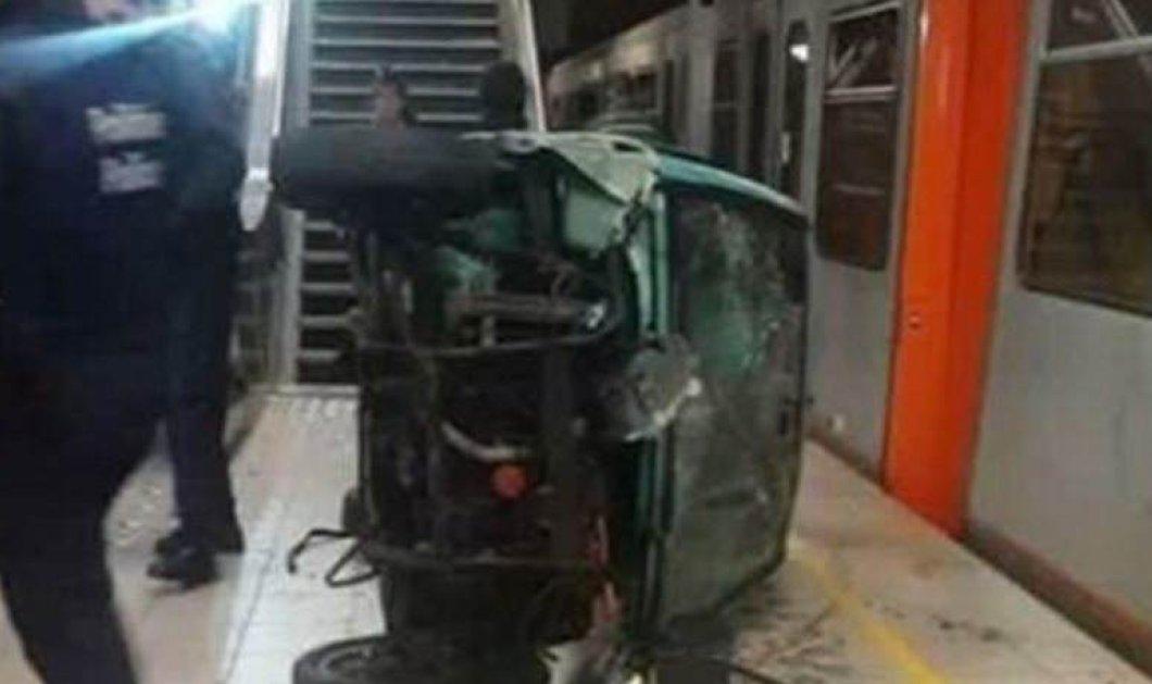 Βίντεο: Τρελή παρέα Βέλγων πετά για πλάκα ένα αυτοκίνητο μέσα σε σταθμό μετρό  - Κυρίως Φωτογραφία - Gallery - Video
