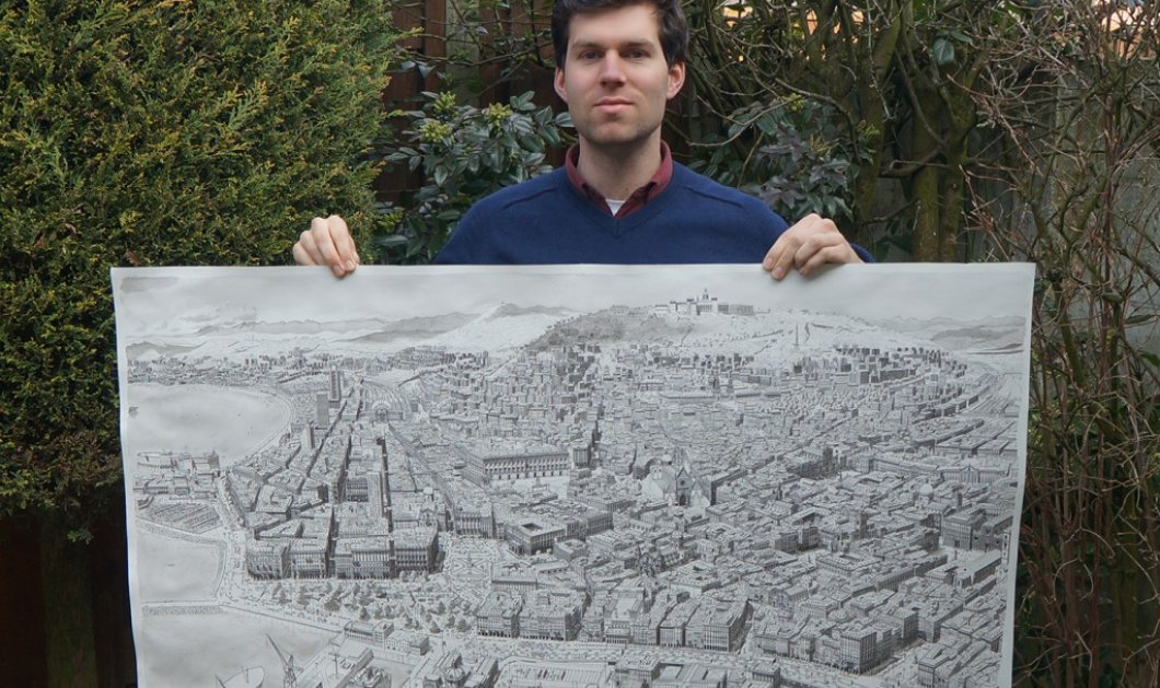 O νεαρός Stefan έχει μία μοναδική ικανότητα - Ζωγραφίζει εντυπωσιακές πόλεις από μνήμης - Κυρίως Φωτογραφία - Gallery - Video