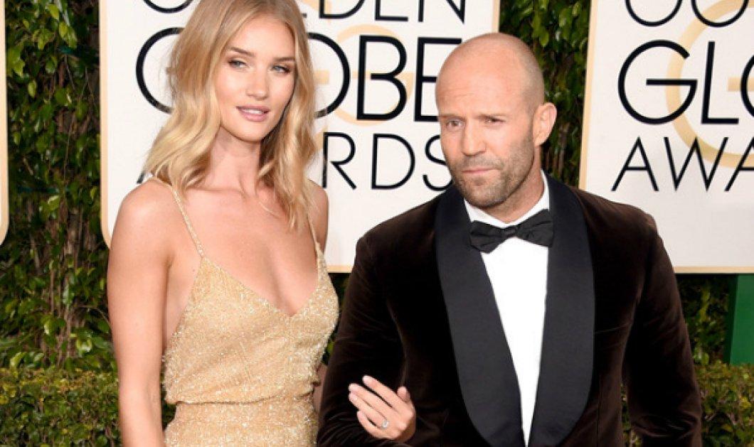 H Rosie Huntington & ο Jason Statham παντρεύονται επιτέλους! Το μονόπετρο στις Χρυσές Σφαίρες που έβαλε η Victoria Secret τους... πρόδωσε  - Κυρίως Φωτογραφία - Gallery - Video