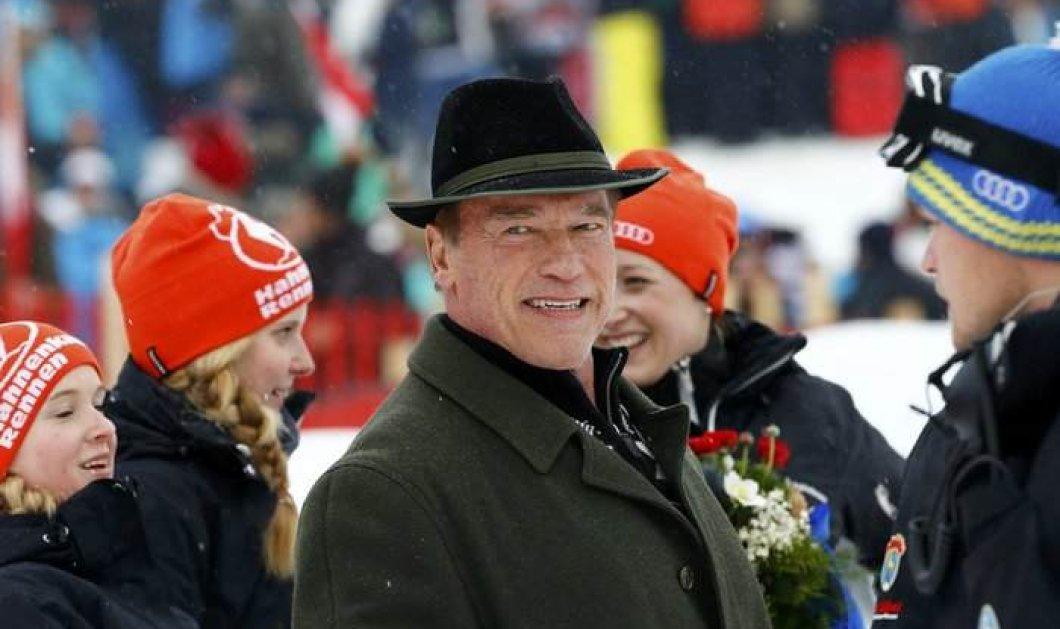 O Άρνολντ Σβαρτσενέγκερ πήγε στο Κίτσμπουλ - νάτος στο Παγκόσμιο Πρωτάθλημα Σκι με διάσημους φίλους - Κυρίως Φωτογραφία - Gallery - Video
