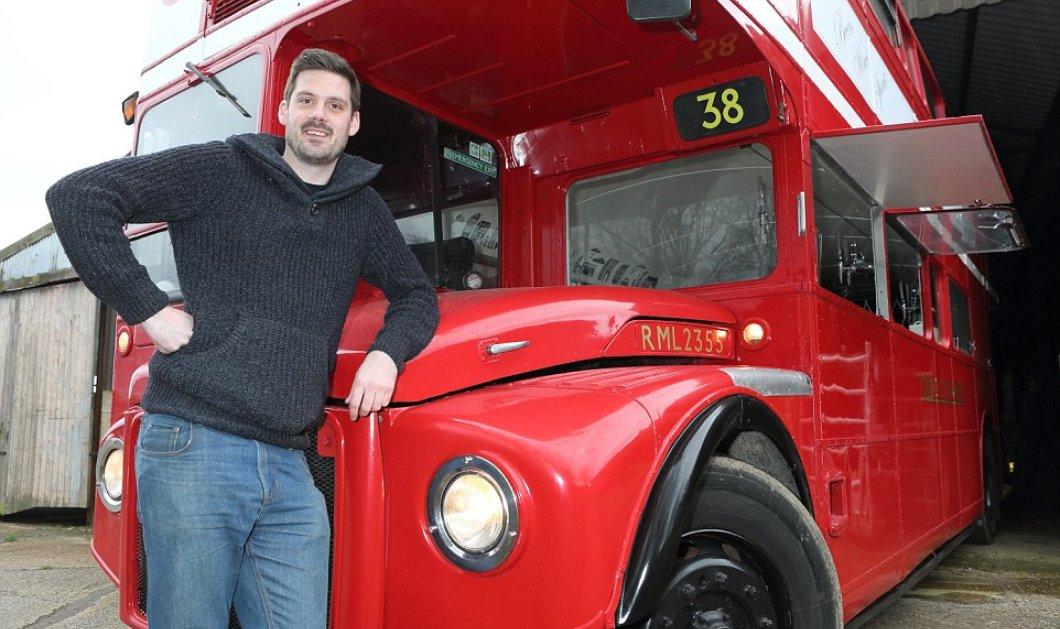 34χρονος έκανε το όνειρο του πραγματικότητα - Μετέτρεψε σε παμπ παλιό λεωφορείο φωτό - βίντεο  - Κυρίως Φωτογραφία - Gallery - Video