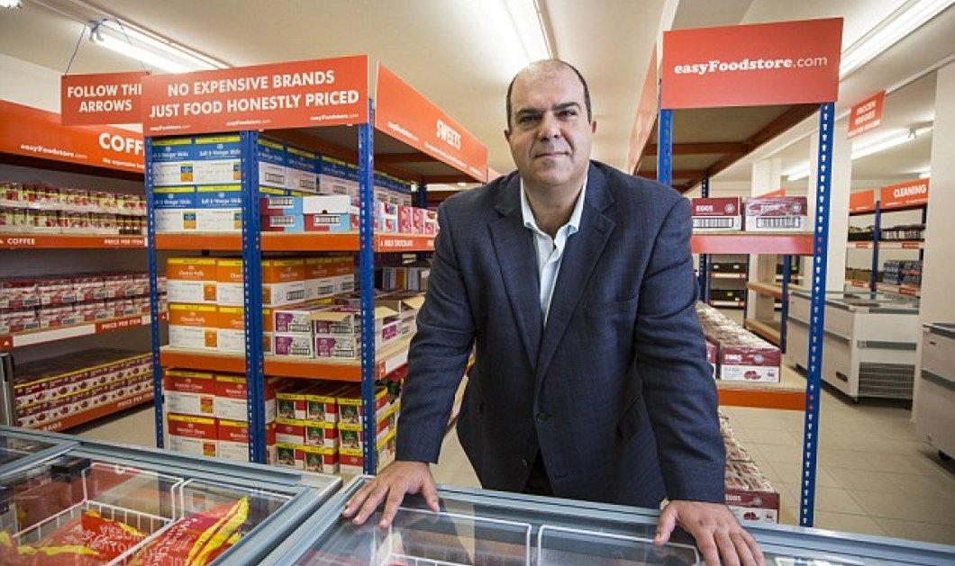 Ξεπουλάει ο Στέλιος Χατζηιωάννου με τo πάμφθηνo easyFoodstore του - Το super market με όλα στα 25 pounds - Κυρίως Φωτογραφία - Gallery - Video