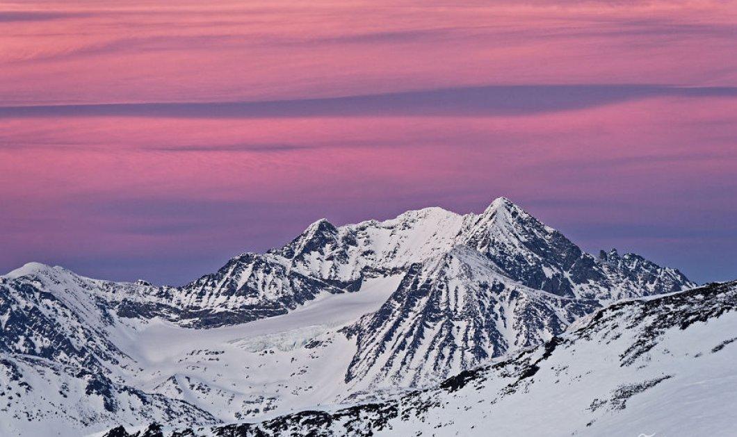 Η ''παγωμένη'' ομορφιά των χιονισμένων βουνών του Καναδά την ώρα της δύσης & της ανατολής - Μοναδικά κλικς που μαγεύουν - Κυρίως Φωτογραφία - Gallery - Video