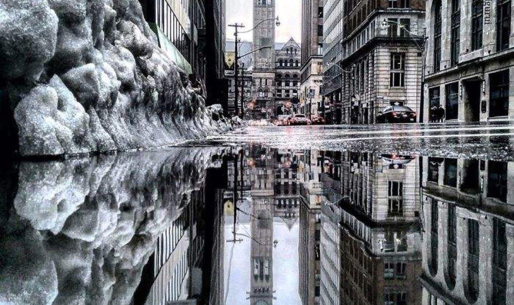 Μια υπέροχη  παράλληλη πόλη εμφανίζεται στους δρόμους του Τορόντο κάθε φορά που βρέχει - Κυρίως Φωτογραφία - Gallery - Video