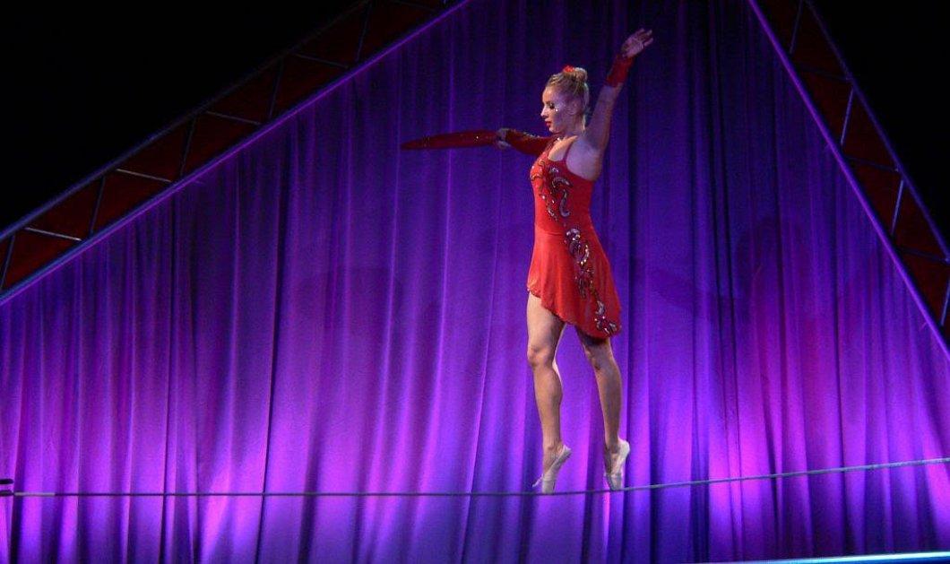 Ρωσίδα αθλήτρια περπατάει με ψηλές γόβες σε σχοινί (βίντεο) - Παγκόσμιο ρεκόρ ισορροπίας   - Κυρίως Φωτογραφία - Gallery - Video