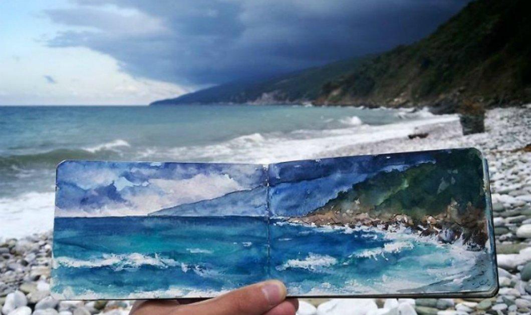 Καλλιτέχνης ταξιδεύει σε όλη την Ελλάδα & δημιουργεί απίθανους πίνακες με έμπνευση τις φωτογραφίες του - Κυρίως Φωτογραφία - Gallery - Video