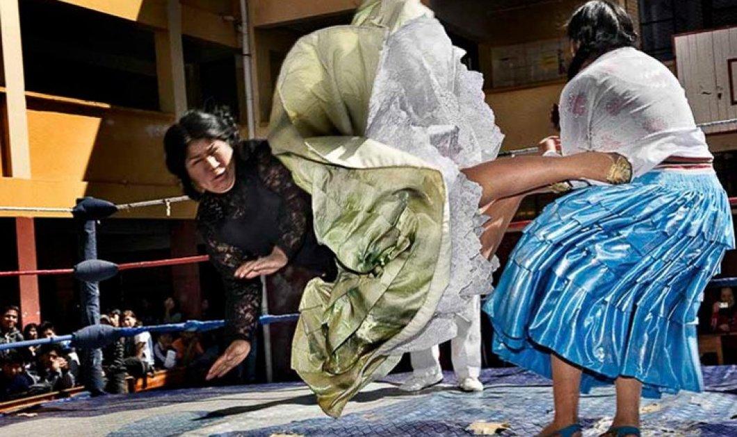 Βίντεο: Οι γυναίκες παλαιστές της Βολιβίας κρύβουν απίστευτη δύναμη κάτω από πολύχρωμα φουστάνια  - Κυρίως Φωτογραφία - Gallery - Video
