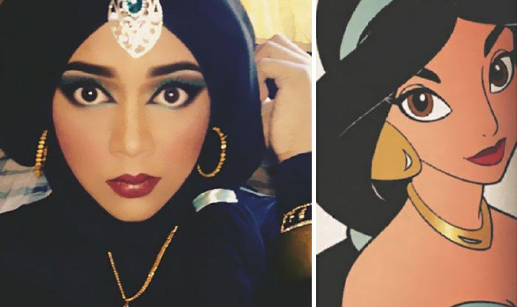 Πανέμορφη μουσουλμάνα μεταμορφώνεται μόνο με την μαντήλα της σε ηρωίδες της Disney! - Κυρίως Φωτογραφία - Gallery - Video