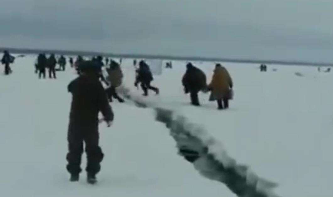 Όταν έσπασε ο πάγος της λίμνης... Οι ψαράδες & η ηράκλεια προσπάθεια να γλυτώσουν τον πνιγμό   - Κυρίως Φωτογραφία - Gallery - Video