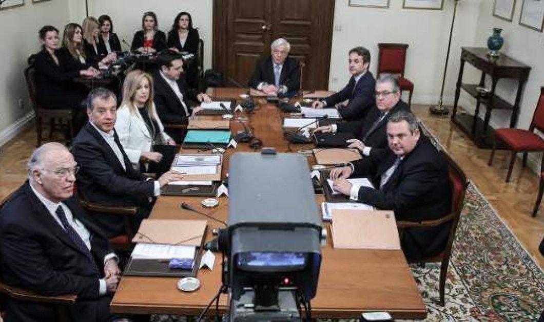 Μετά από 8 ώρες συμφώνησαν ότι… διαφωνών οι Πολιτικοί αρχηγοί – Το επίσημο κείμενο  - Κυρίως Φωτογραφία - Gallery - Video