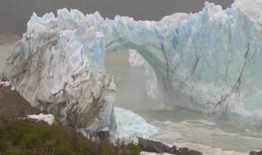 Βίντεο που κόβει την ανάσα: Παγόβουνο καταρρέει σαν χάρτινος πύργος στην Παταγονία λόγω κλιματικής αλλαγής - Κυρίως Φωτογραφία - Gallery - Video