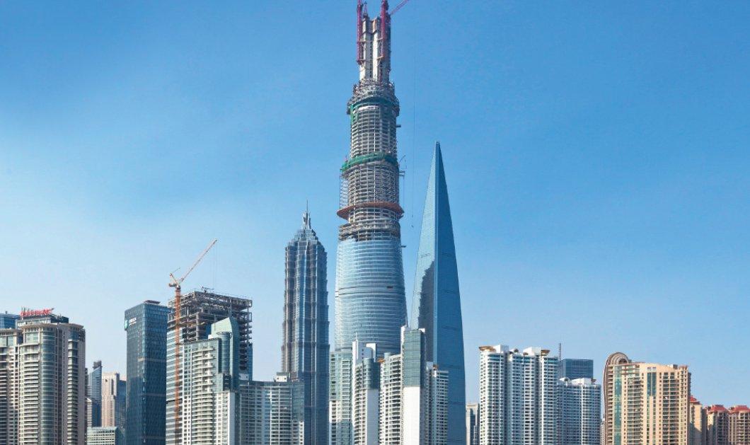 Εντυπωσιακό βίντεο: Δείτε πώς κατασκευάστηκε ο πύργος της Σανγκάης - Το 2ο ψηλότερο κτήριο στον κόσμο! - Κυρίως Φωτογραφία - Gallery - Video