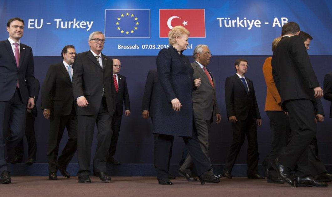 Aυτό είναι το σχέδιο της Συνόδου Κορυφής για το προσφυγικό: Τα 6 σημεία - κλειδί της συμφωνίας με την Τουρκία - Κυρίως Φωτογραφία - Gallery - Video