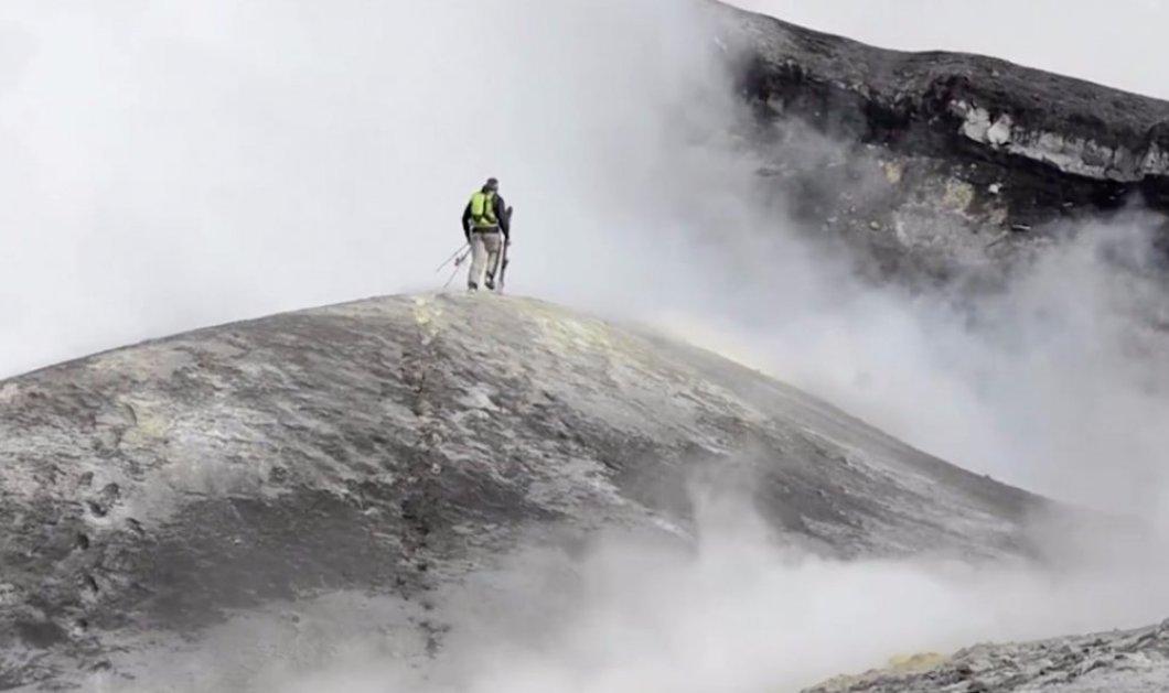 Βίντεο: Αυτός ο παράτολμος κασκαντέρ κάνει σκι μέσα σε ένα ενεργό ηφαίστειο - Κυρίως Φωτογραφία - Gallery - Video