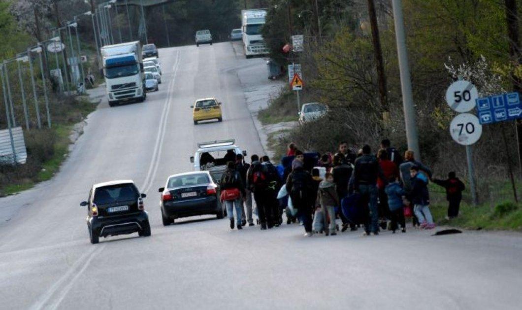 Κατάληψη στην Εθ. Οδό Λάρισας-Τρικάλων από Σύρους πρόσφυγες - Σχεδόν 53.000 οι εγκλωβισμένοι στην χώρα  - Κυρίως Φωτογραφία - Gallery - Video