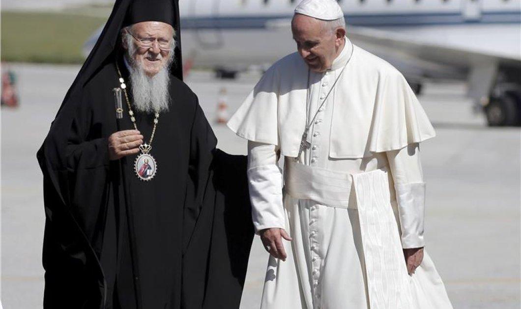 Φωτορεπορτάζ από την ιστορική συνάντηση των 3 θρησκευτικών ηγετών στην Λέσβο - Κυρίως Φωτογραφία - Gallery - Video