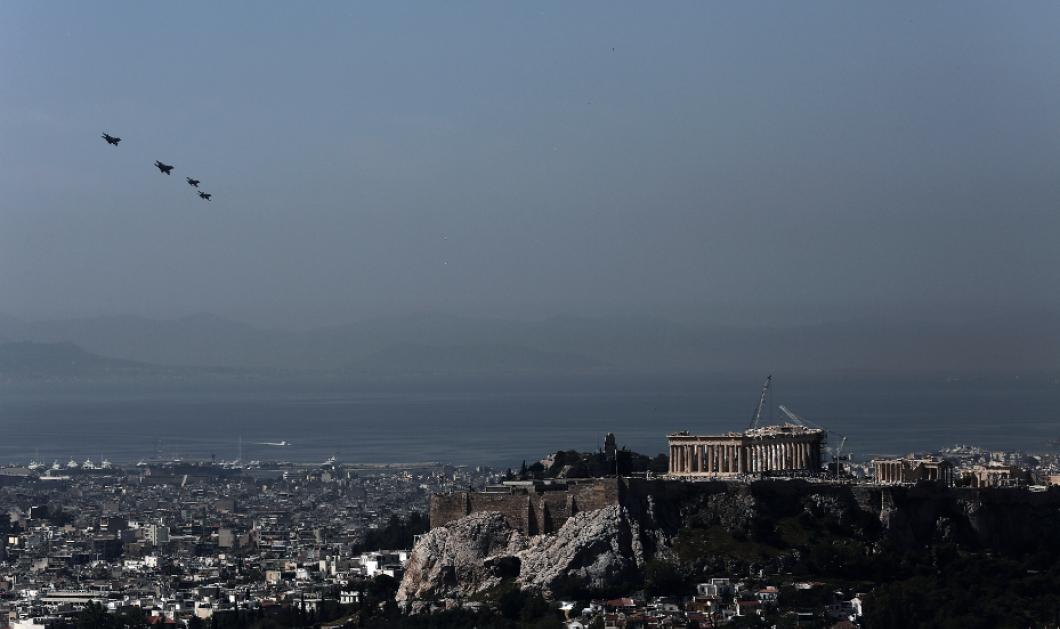 Δείτε τα μαχητικά που πέταξαν πάνω από την Ακρόπολη - ΦΩΤΟ  - Κυρίως Φωτογραφία - Gallery - Video