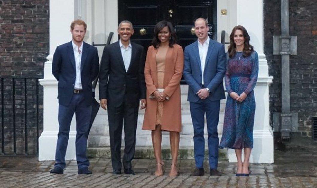 Το ζεύγος Ομπάμα στο παλάτι του Κένσινγκτον – Η υποδοχή από Γουίλιαμ, Χάρι και Κέιτ Μίντλετον - Κυρίως Φωτογραφία - Gallery - Video