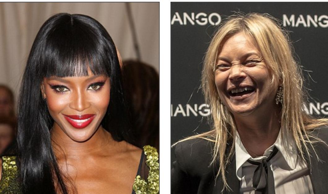 Ποιος μισεί την Kate Moss? Σαν γριά- σκιάχτρο την συγκρίνουν με την κούκλα συνομήλικη της Νaomi Campbell   - Κυρίως Φωτογραφία - Gallery - Video
