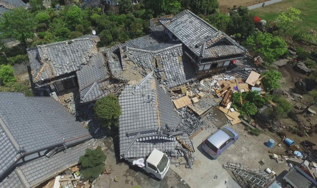 """Με τα """"μάτια"""" ενός drone: Απίστευτες εικόνες καταστροφής από τους σεισμούς στη νότια Ιαπωνία (Βίντεο) - Κυρίως Φωτογραφία - Gallery - Video"""