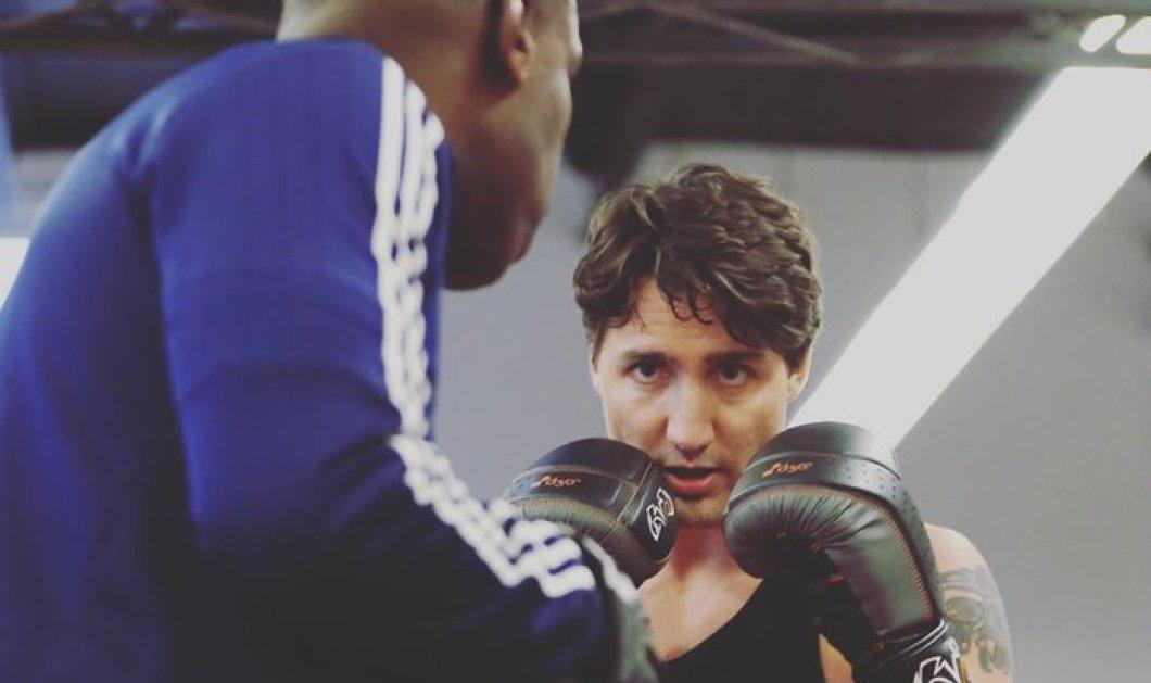 Ο γόης ηγέτης του Καναδά Τριντό έγινε ... μποξέρ! Μπαίνει στο ρινγκ & φοράει τα γάντια - Κυρίως Φωτογραφία - Gallery - Video