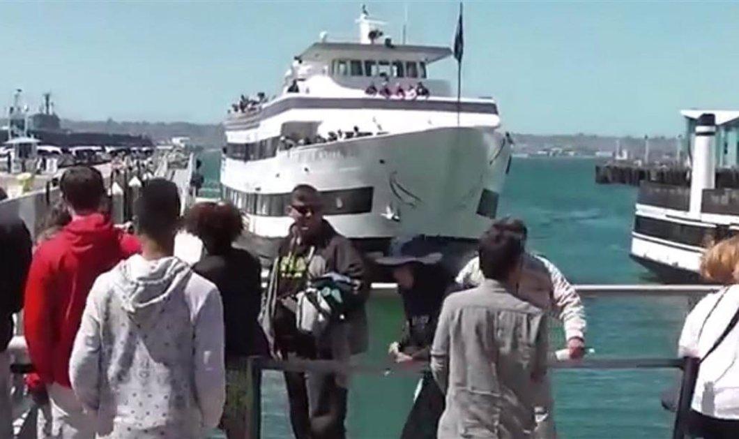 Βίντεο που κόβει την ανάσα: Πλοιάριο πέφτει με δύναμη πάνω σε μώλο γεμάτο τουρίστες  - Κυρίως Φωτογραφία - Gallery - Video
