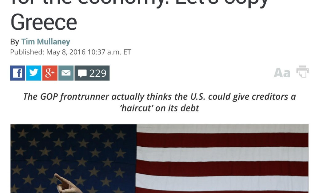 Τράμπ: Let's copy την Ελλάδα και να χρεοκοπήσουμε! Αντιπρόεδρος των ΗΠΑ ο Βαρουφάκης;   - Κυρίως Φωτογραφία - Gallery - Video