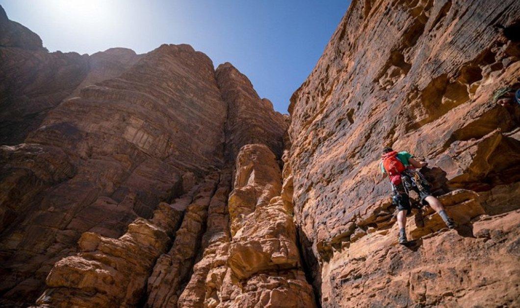 Θαύμα! Ο Leo αναρριχήθηκε σε κάθετο βράχο 350m πιο ψηλό απο τον Πύργο του Αϊφελ - Κυρίως Φωτογραφία - Gallery - Video