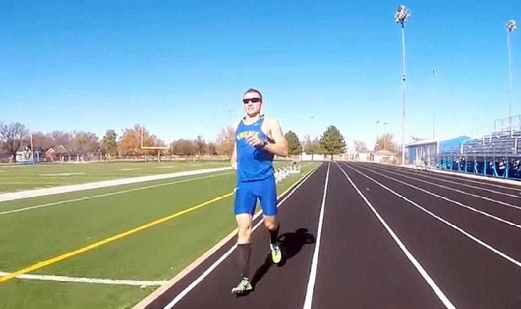 Βίντεο: O ανάποδος δρομέας πέτυχε ρεκόρ Γκίνες τρέχοντας με την όπισθεν  - Κυρίως Φωτογραφία - Gallery - Video